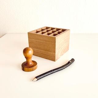 フォグリネンワーク(fog linen work)の【3点セット】アンティークのスタンプハンドル 木製ペンスタンド 小枝の鉛筆(その他)