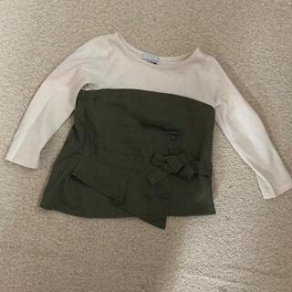 セブンデイズサンデイ(SEVENDAYS=SUNDAY)のトップス☆SEVENDAYS SUNDAY☆カーキ色(Tシャツ/カットソー)