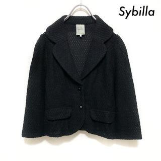 シビラ(Sybilla)のSybilla シビラ★テーラードジャケット ブラック 黒(テーラードジャケット)