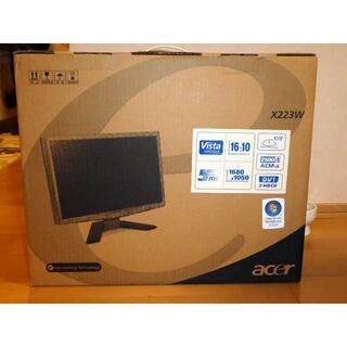 エイサー(Acer)の★ ACER 22型ディスプレイ X223W ジャンク ★(ディスプレイ)
