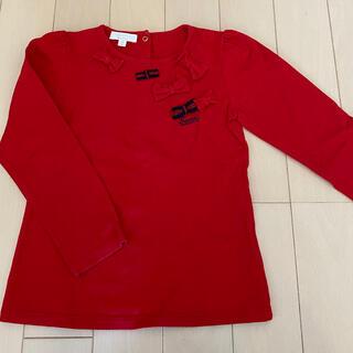 グッチ(Gucci)の【GUCCI】長袖Tシャツ 90㎝ 女の子 赤(Tシャツ/カットソー)