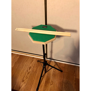 ドラム 練習パッド 8インチ 新品スティック セット 太鼓の達人(スネア)
