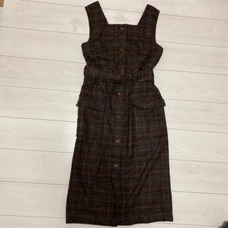 ダブルクローゼット(w closet)のwcloset ジャンパースカート(ひざ丈ワンピース)
