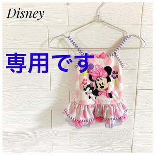 ディズニー(Disney)のDisney ディズニー ミニー 水着 95 女の子 ピンク 水玉 キッズ(水着)