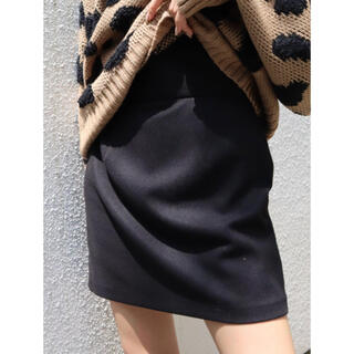 エモダ(EMODA)のEMODA フィットコルセットミニスカート ブラック Sサイズ(ミニスカート)