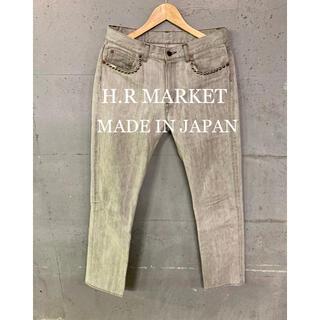 ハリウッドランチマーケット(HOLLYWOOD RANCH MARKET)のH.R MARKETピースマークグレーデニム!日本製!(デニム/ジーンズ)