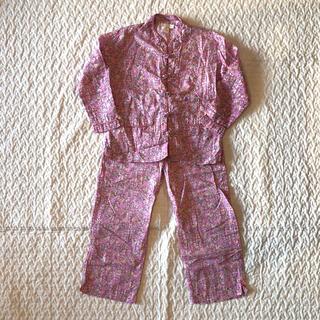 ザラキッズ(ZARA KIDS)の新品未着用⭐︎花柄パジャマ 3-4y(パジャマ)