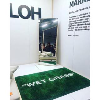 イケア(IKEA)のIKEA MARKERAD WET GRASS Virgil Abloh イケア(ラグ)