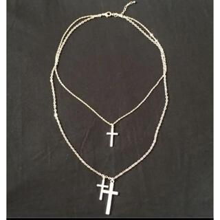 セシルマクビー(CECIL McBEE)のセシルマクビー  二連チェーン  十字架ネックレス(ネックレス)