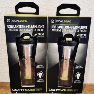 ゴールゼロ(GOAL ZERO)の2個 Goal Zero  LIGHTHOUSE micro FLASH(ライト/ランタン)