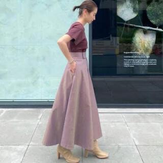 アパルトモンドゥーズィエムクラス(L'Appartement DEUXIEME CLASSE)のCLANE CHAMBRAY CIRCULAR SKIRT ロングスカート(ロングスカート)