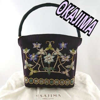 OKAJIMA 岡重◆正絹 友禅 和装 ハンドバッグ◆レディース(ハンドバッグ)