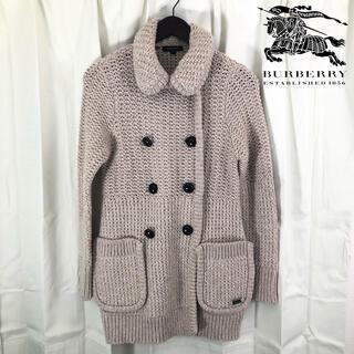 バーバリー(BURBERRY)のバーバリーロンドン 日本製 ピーコート風 カシミヤ混ニットジャケット S(ピーコート)