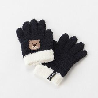 プティマイン(petit main)のpetit main プティマイン モチーフ アップリケ マシュマロ 手袋(手袋)
