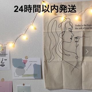 スリーコインズ(3COINS)の大人気 韓国インテリア スリーコインズ ファブリックポスター 女性(絵画/タペストリー)