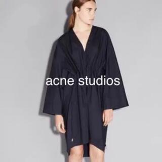 アクネ(ACNE)のAcne studios アクネ ブラック ワンピース ドレス(ひざ丈ワンピース)