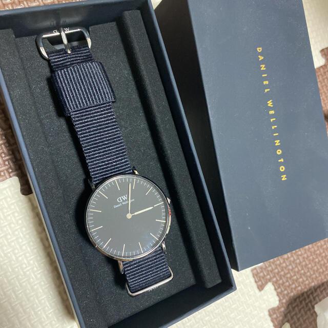 Daniel Wellington(ダニエルウェリントン)のダニエルウェリントン 時計 メンズ 36 クラシックブラックシルバー メンズの時計(腕時計(アナログ))の商品写真