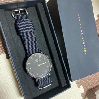 ダニエルウェリントン(Daniel Wellington)のダニエルウェリントン 時計 メンズ 36 クラシックブラックシルバー(腕時計(アナログ))