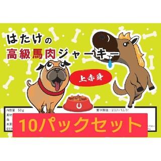 10Pセット 馬肉ジャーキー 上赤身 ワンちゃん 犬専用 ドッグフード
