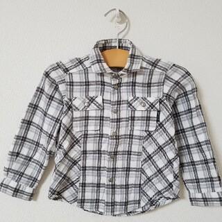 コムサイズム(COMME CA ISM)のコムサイズム チェックシャツ ブラック ホワイト(ブラウス)