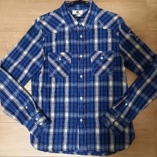 ティーエムティー(TMT)のM(エム) チェックシャツ ブルー系 Lサイズ キムタク(シャツ)