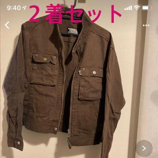 寅壱 - 【寅壱】TORA ライダースジャケット上下セット