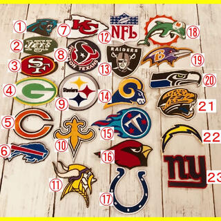 3点❗️アイロン 刺繍 ワッペン!NFL ナショナルフットボールリーグ(アメリカンフットボール)
