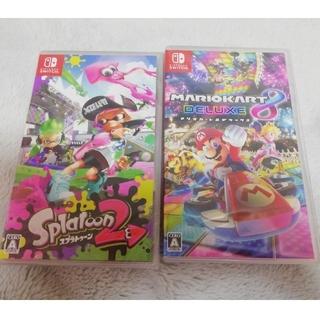 ニンテンドースイッチ(Nintendo Switch)の未開封新品 マリオカート8 デラックス  スプラトゥーン2(家庭用ゲームソフト)