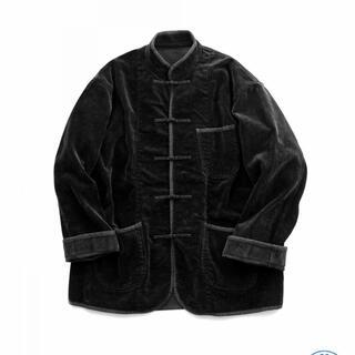 ポーター(PORTER)の【新品Lサイズ】コーデュロイチャイニーズジャケット ブラック(ブルゾン)