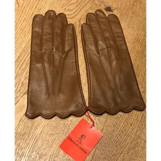 ロベルタディカメリーノ(ROBERTA DI CAMERINO)のロベルタディカメリーノ  手袋 レザーグローブ ブラウン系 羊革 新品未使用品(手袋)