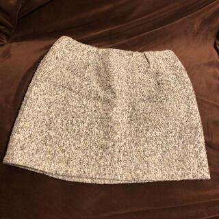 アンレリッシュ(UNRELISH)のアンレリッシュ ツイードスカート 美品(ひざ丈スカート)