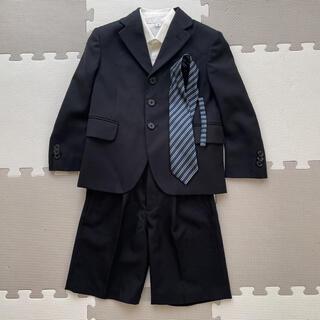 シマムラ(しまむら)の男の子 フォーマル スーツ ブラック 110 冠婚葬祭(ドレス/フォーマル)