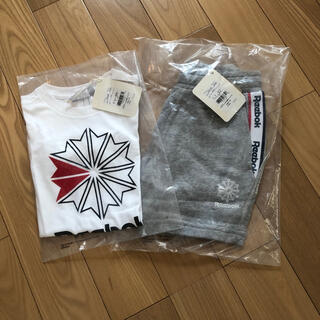 リーボック(Reebok)の【新品】Tシャツ・ハーフパンツセット(Tシャツ/カットソー)