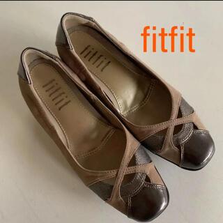 フィットフィット(fitfit)のfitfit フィットフィット ローヒール スエード パンプス 24(その他)