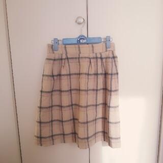 ボンメルスリー(Bon merceie)のBon merceie 膝丈チェックスカート(ひざ丈スカート)