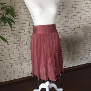 アクアガール(aquagirl)の新品同様プリーツスカート  (ひざ丈スカート)
