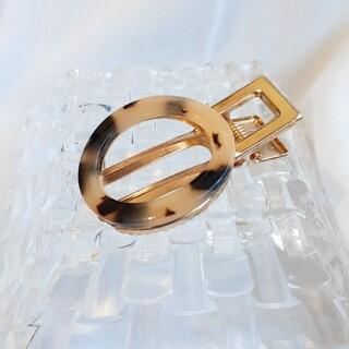 Ane Mone - #9 SALE べっこう 円形 ゴールド ヘアクリップ