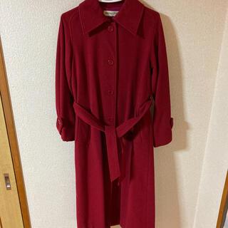 クリスチャンオジャール(CHRISTIAN AUJARD)の赤のウールコート♡ ロングコート 美品 クリスチャンオジャール(ロングコート)