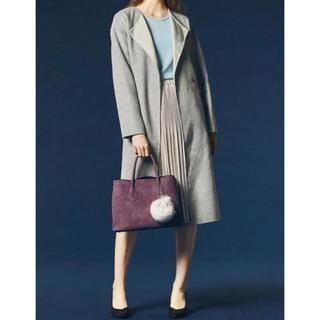 スーツカンパニー(THE SUIT COMPANY)の美品リバーシブルウールコート(ロングコート)