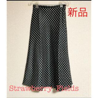ストロベリーフィールズ(STRAWBERRY-FIELDS)の新品未使用❤️Strawberry Fields デザイン柄ロングスカート(ロングスカート)