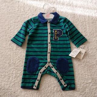 POLO baby カバーオール ベロア ロンパース 50 60(カバーオール)