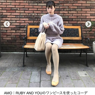 RUBY AND YOU - RUBY AND YOU 💜amoちゃんニットワンピ