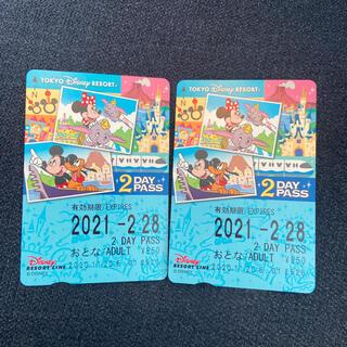 ディズニー(Disney)のディズニーリゾートライン フリーパス 未使用(鉄道乗車券)