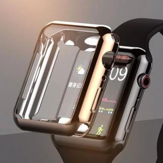 アップルウォッチ 全面フルカバー 保護 シンコンカバー(腕時計(デジタル))