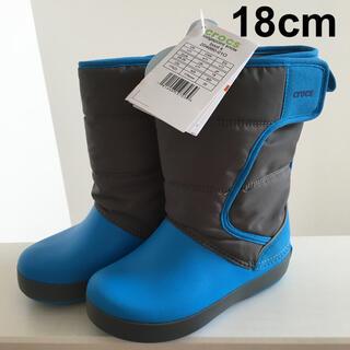 新品 クロックス  ブーツ 18cm キッズ スノーブーツ  冬