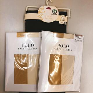 ポロラルフローレン(POLO RALPH LAUREN)の新品・3点 ラルフローレン ストッキング×2 コットン100%クルーネック長袖(タイツ/ストッキング)