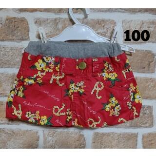 ロデオクラウンズ(RODEO CROWNS)のロデオクラウンズ RODEO CROWN 赤 花柄 スカート 95~105㎝(スカート)
