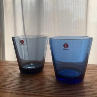 イッタラ(iittala)の1月のみ値下げ❣️カルティオ ウルトラマリンブルーとレイン(グラス/カップ)
