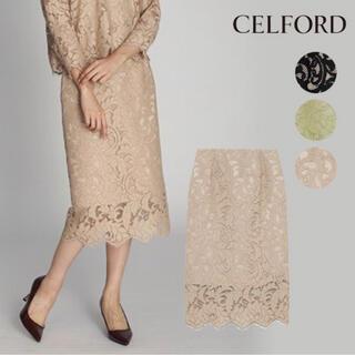 フレイアイディー(FRAY I.D)のCELFORD コードレースタイトスカート(ひざ丈スカート)
