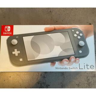ニンテンドースイッチ(Nintendo Switch)のNintendo Switch Liteグレー 新品 11/16購入 即日発送(家庭用ゲーム機本体)